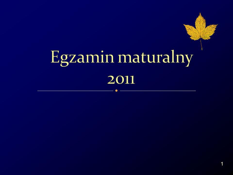 Egzamin maturalny przeprowadza się jeden raz w roku w sesji: 2 Egzamin maturalny od 2005 roku.