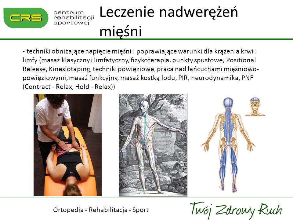 Ortopedia - Rehabilitacja - Sport Leczenie nadwerężeń mięśni - techniki obniżające napięcie mięśni i poprawiające warunki dla krążenia krwi i limfy (m