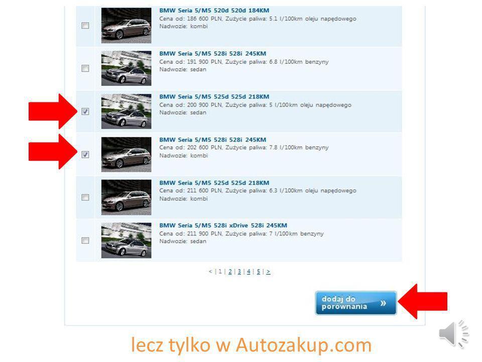 lecz tylko w Autozakup.com