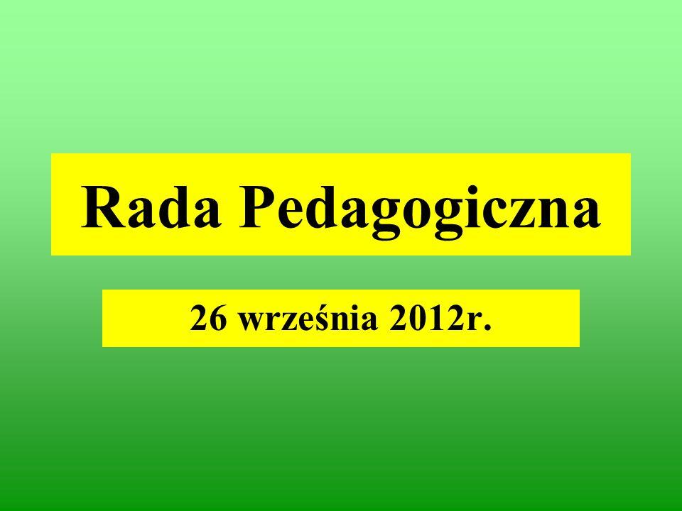 Rada Pedagogiczna 26 września 2012r.