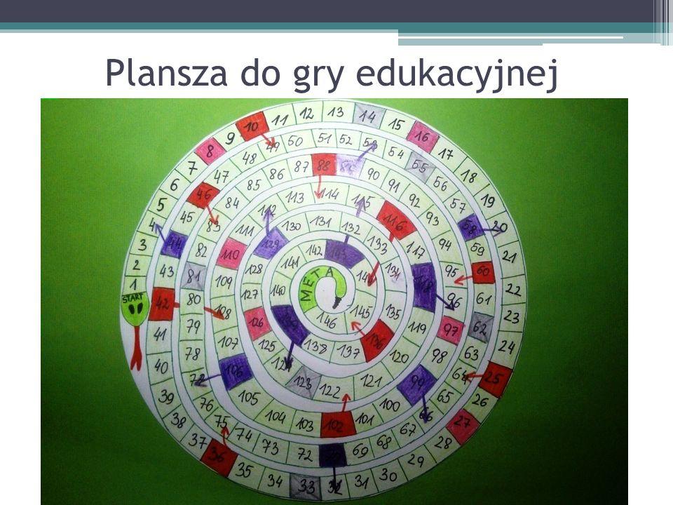 Plansza do gry edukacyjnej
