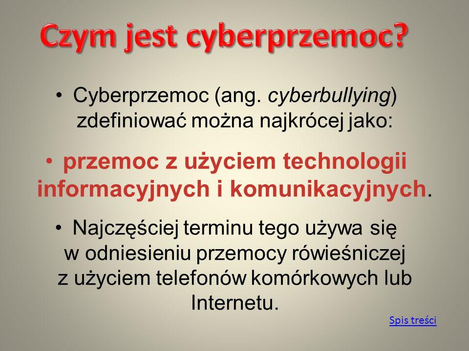 Cyberprzemoc (ang.