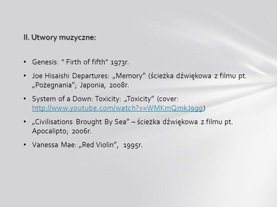 I.Literatura przedmiotu: 1) Słowniczek muzyczny, Jerzy Habela, Polskie Wydawnictwo Muzyczne SA, Kraków 2005, ISBN: 83-224-0336-4. 2) Zasady muzyki, Fr