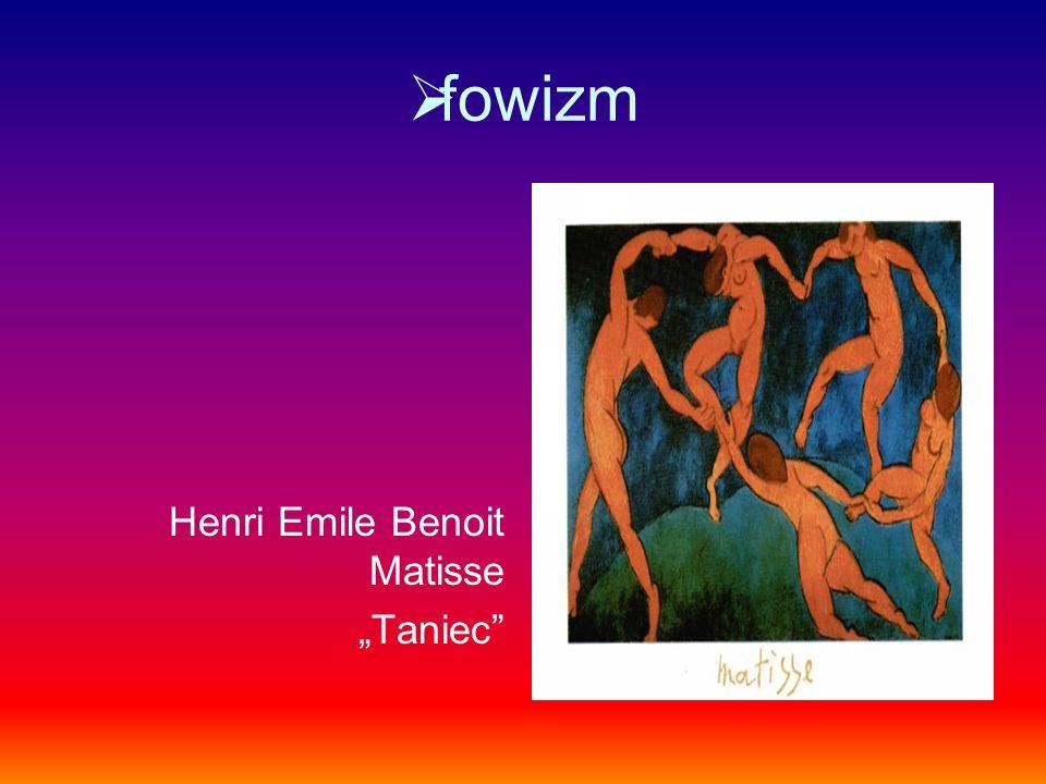 fowizm Henri Emile Benoit Matisse Taniec