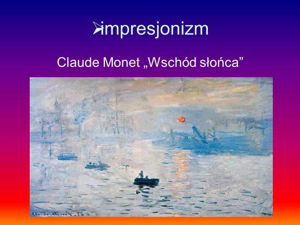 impresjonizm Claude Monet Wschód słońca