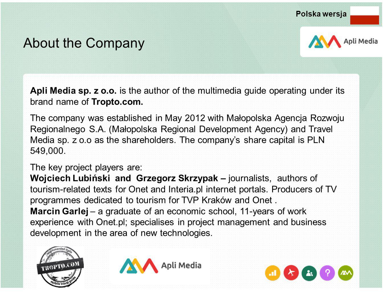 About the Company Apli Media sp. z o.o.