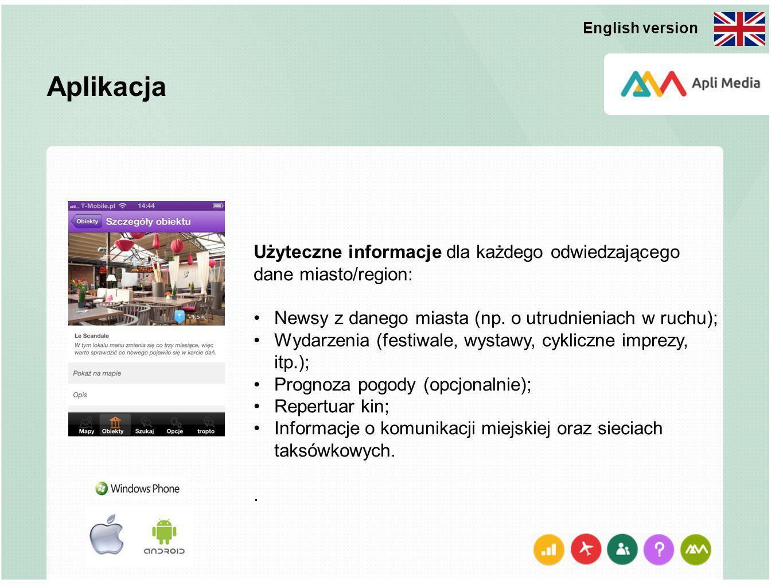 Użyteczne informacje dla każdego odwiedzającego dane miasto/region: Newsy z danego miasta (np. o utrudnieniach w ruchu); Wydarzenia (festiwale, wystaw