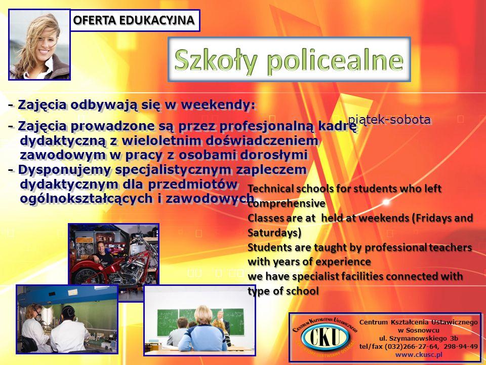 OFERTA EDUKACYJNA Centrum Kształcenia Ustawicznego w Sosnowcu ul.