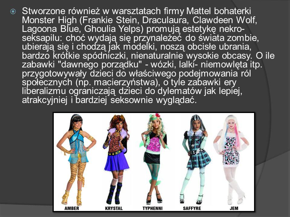 Stworzone również w warsztatach firmy Mattel bohaterki Monster High (Frankie Stein, Draculaura, Clawdeen Wolf, Lagoona Blue, Ghoulia Yelps) promują es