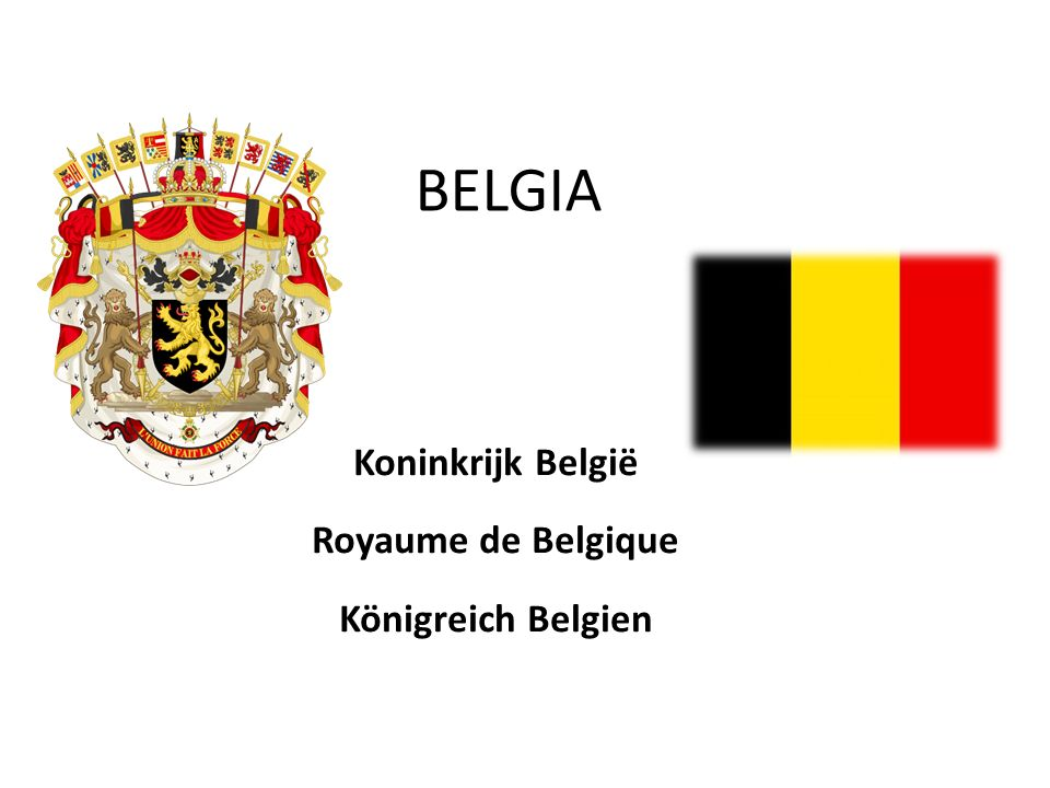 BELGIA Koninkrijk België Royaume de Belgique Königreich Belgien