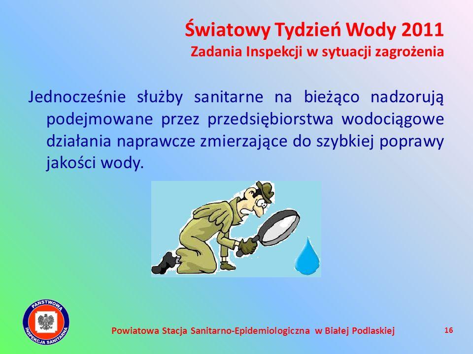 Powiatowa Stacja Sanitarno-Epidemiologiczna w Białej Podlaskiej Jednocześnie służby sanitarne na bieżąco nadzorują podejmowane przez przedsiębiorstwa