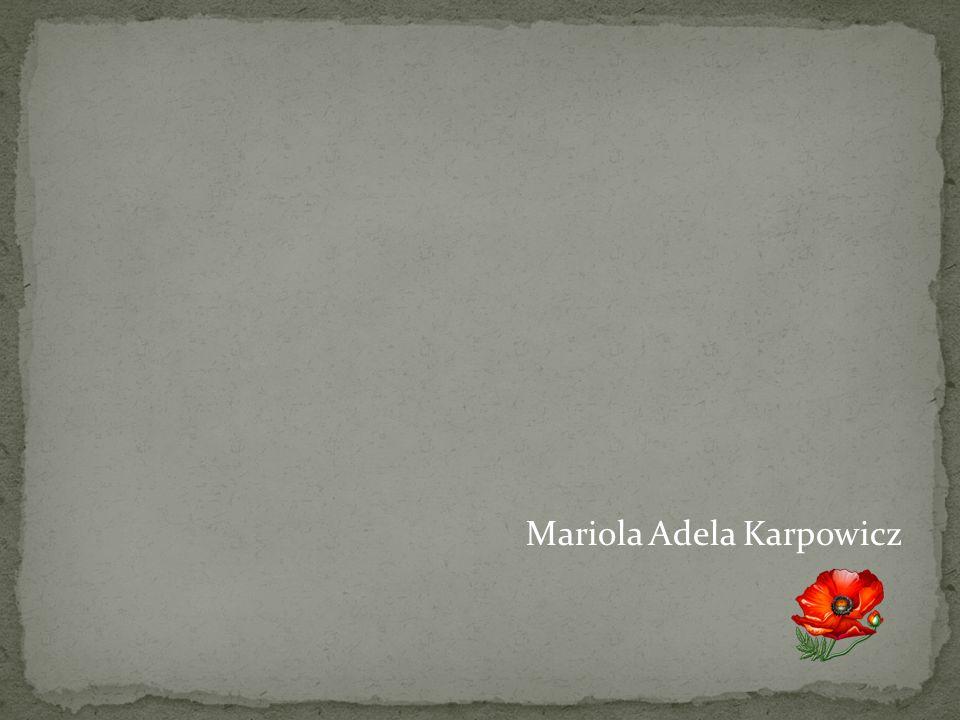 Mariola Adela Karpowicz