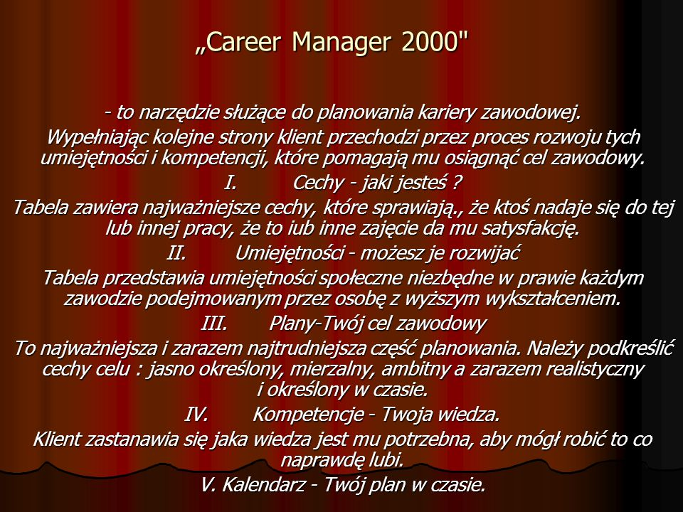 Career Manager 2000