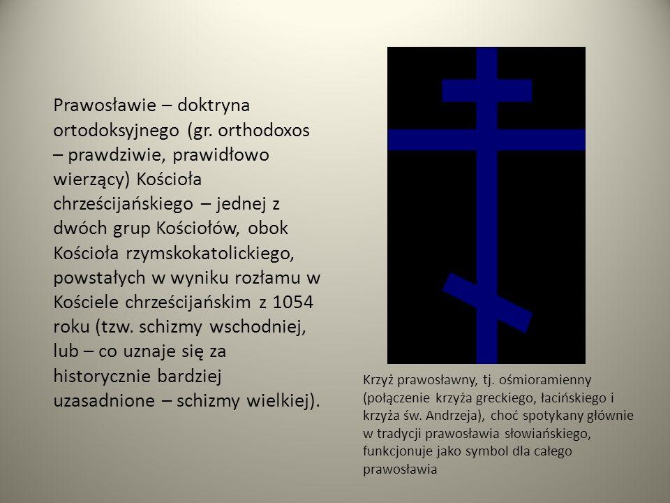 Prawosławie – doktryna ortodoksyjnego (gr. orthodoxos – prawdziwie, prawidłowo wierzący) Kościoła chrześcijańskiego – jednej z dwóch grup Kościołów, o