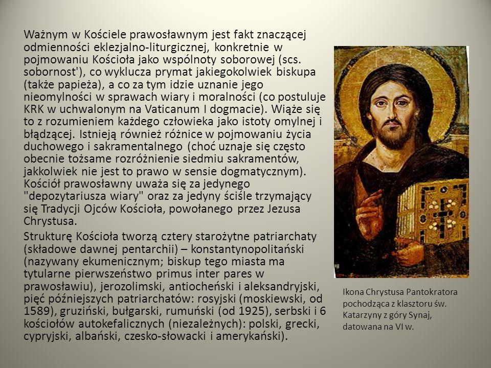 Ważnym w Kościele prawosławnym jest fakt znaczącej odmienności eklezjalno-liturgicznej, konkretnie w pojmowaniu Kościoła jako wspólnoty soborowej (scs