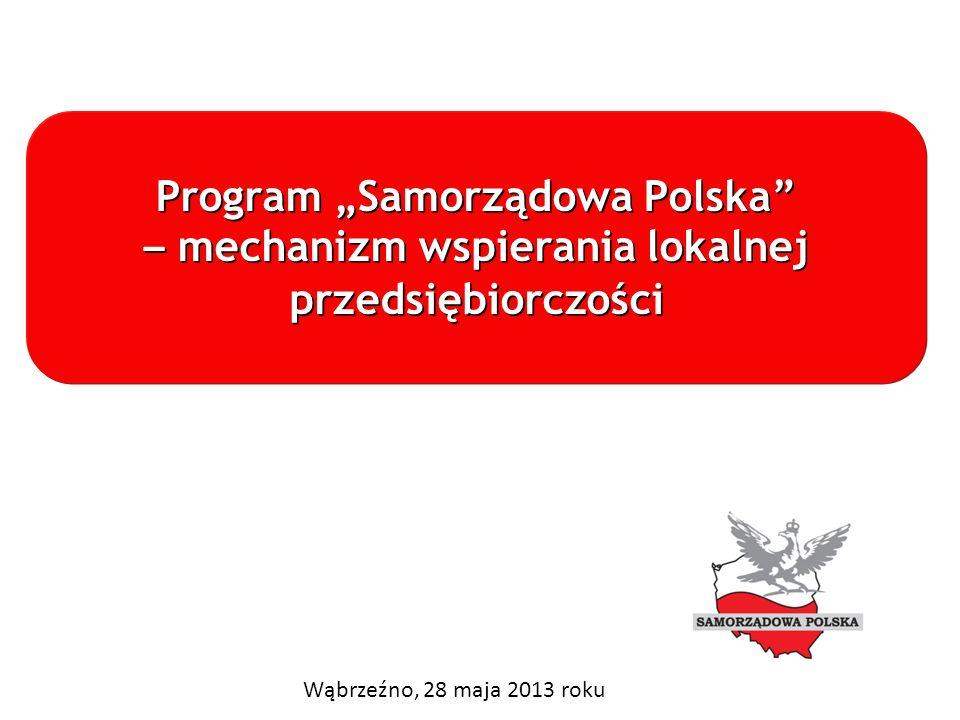 Program Samorządowa Polska – mechanizm wspierania lokalnej przedsiębiorczości Program Samorządowa Polska – mechanizm wspierania lokalnej przedsiębiorc