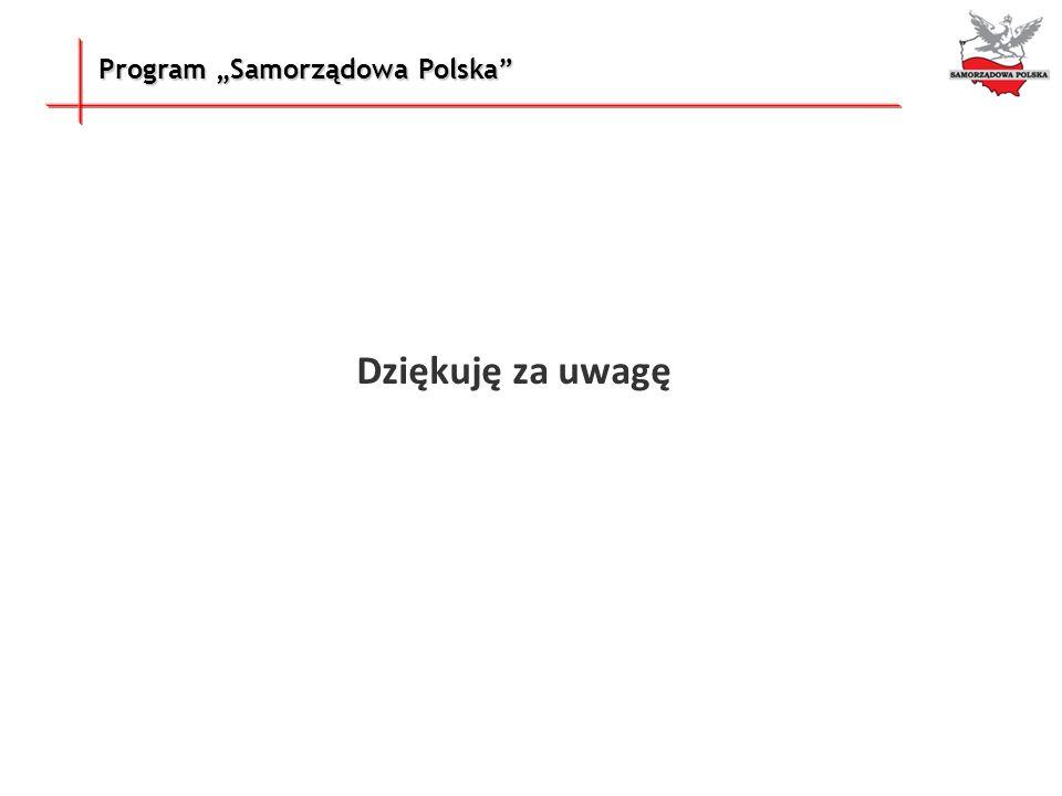 Program Samorządowa Polska Dziękuję za uwagę
