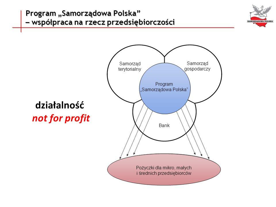 Program Samorządowa Polska – współpraca na rzecz przedsiębiorczości Samorząd terytorialny Samorząd gospodarczy Bank Pożyczki dla mikro, małych i średn