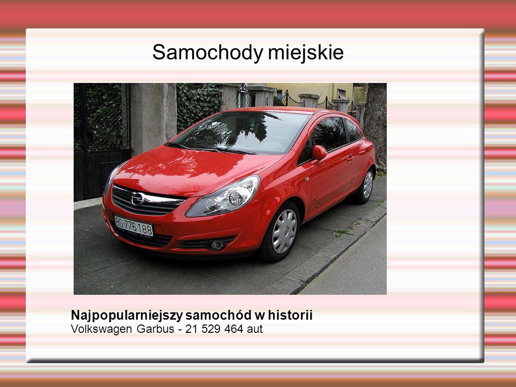 Samochody miejskie Najpopularniejszy samochód w historii Volkswagen Garbus - 21 529 464 aut