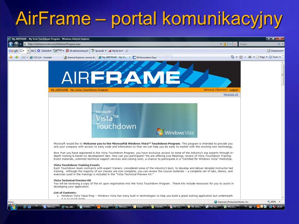 AirFrame – portal komunikacyjny