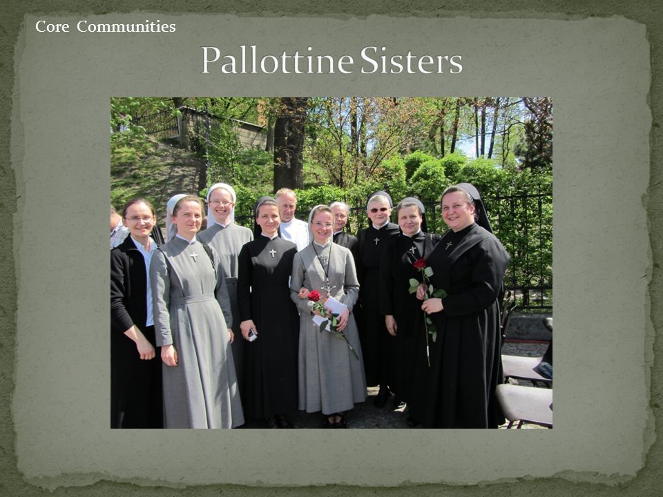 Consecrated life: living out religious vows in a community AIDG cross, Our Way of Life 10- year preparation to final profession 80 communities all over the world, 25 in Poland Prayer and apostolate