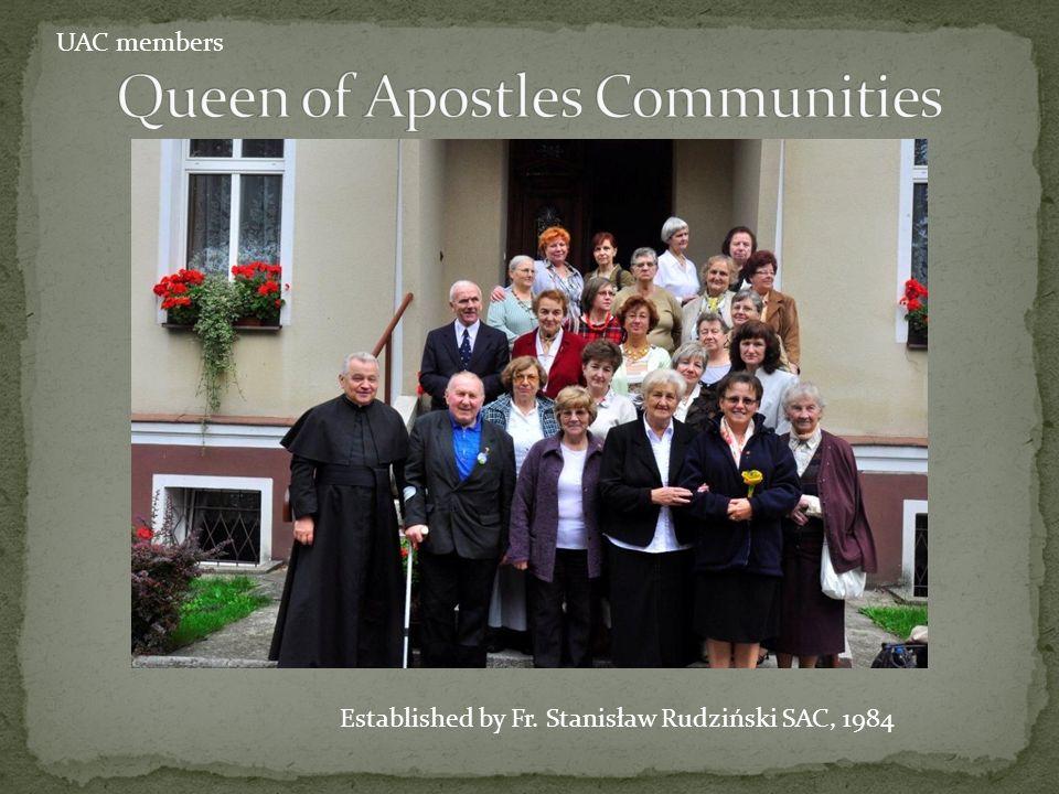 Established by Sr. Barbara Rohde SAC, 1997 UAC members