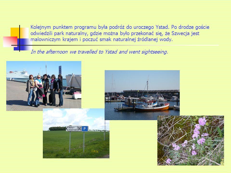 Kolejnym punktem programu była podróż do uroczego Ystad.