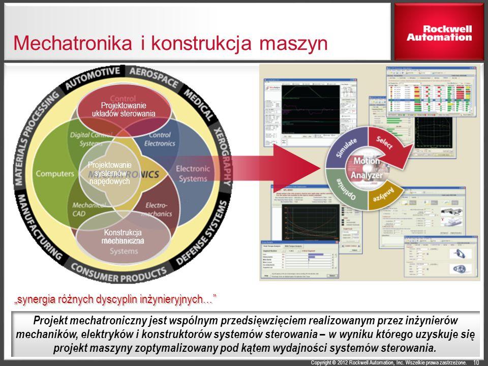 Copyright © 2012 Rockwell Automation, Inc. Wszelkie prawa zastrzeżone. Mechatronika i konstrukcja maszyn 10 Konstrukcja mechaniczna Projektowanie ukła