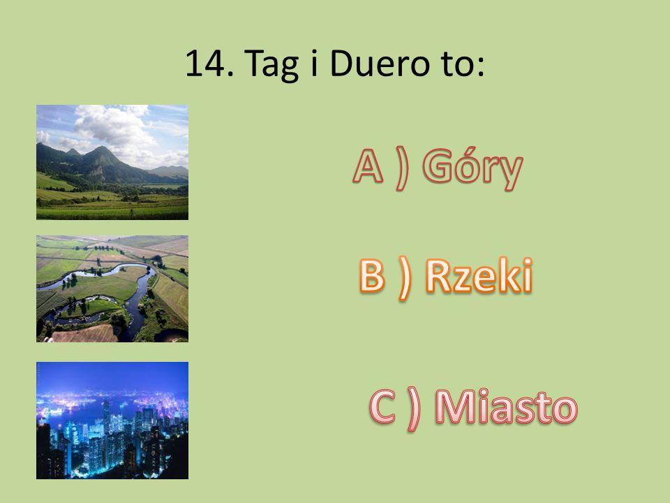14. Tag i Duero to: