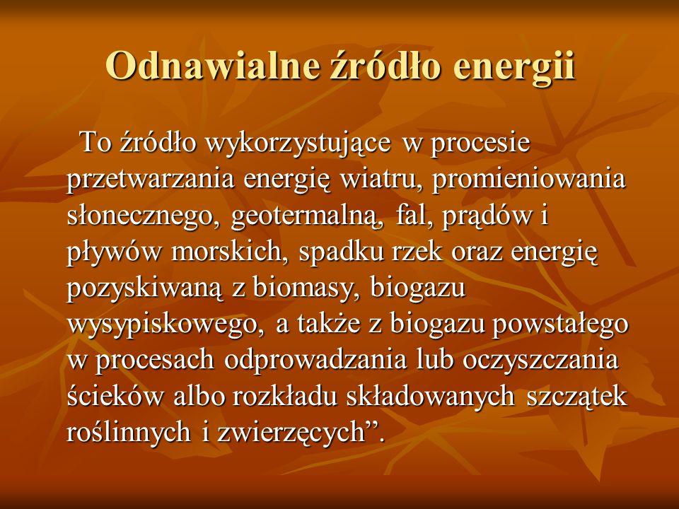 ENERGIA WIATROWA ENERGIA WIATROWA