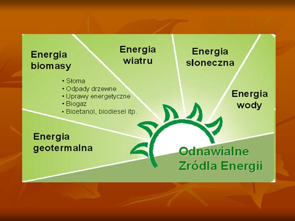 Odnawialne źródło energii To źródło wykorzystujące w procesie przetwarzania energię wiatru, promieniowania słonecznego, geotermalną, fal, prądów i pływów morskich, spadku rzek oraz energię pozyskiwaną z biomasy, biogazu wysypiskowego, a także z biogazu powstałego w procesach odprowadzania lub oczyszczania ścieków albo rozkładu składowanych szczątek roślinnych i zwierzęcych.