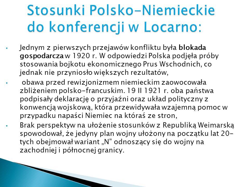 Jednym z pierwszych przejawów konfliktu była blokada gospodarcza w 1920 r. W odpowiedzi Polska podjęła próby stosowania bojkotu ekonomicznego Prus Wsc