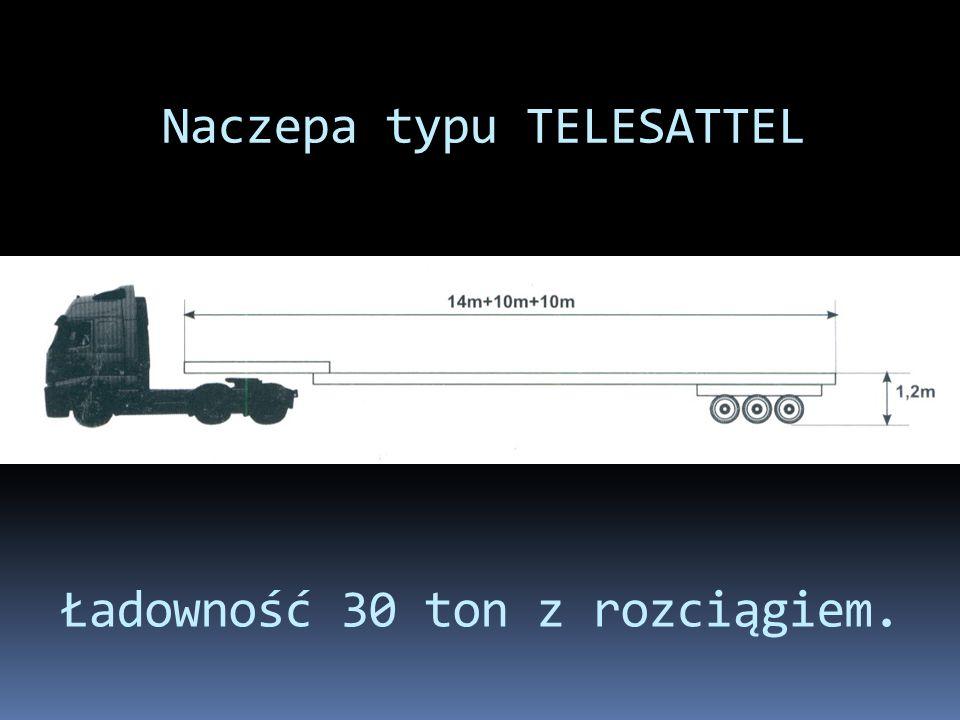 Naczepa typu TELESATTEL Ładowność 30 ton z rozciągiem.