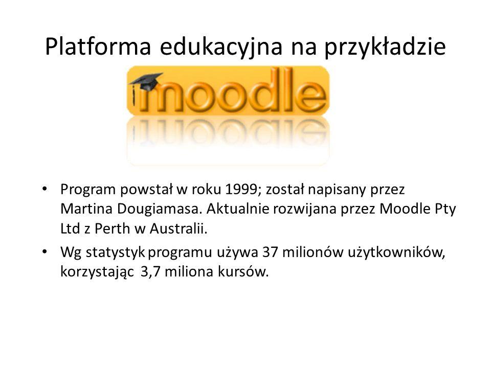 Platforma edukacyjna na przykładzie Program powstał w roku 1999; został napisany przez Martina Dougiamasa.