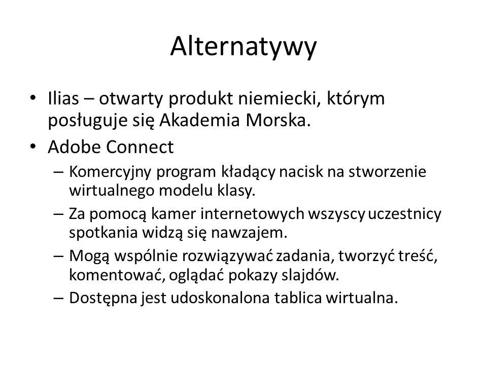 Alternatywy Ilias – otwarty produkt niemiecki, którym posługuje się Akademia Morska.