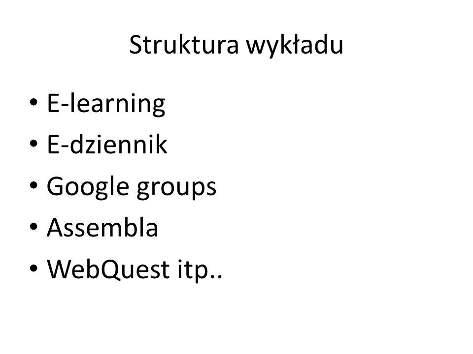 Opis funkcjonalności Możliwości stworzenia rozbudowanej struktury kursu Możliwość eksportu wytworzonej treści do dokumentów w standardzie SCROM 1.2, Word itp..