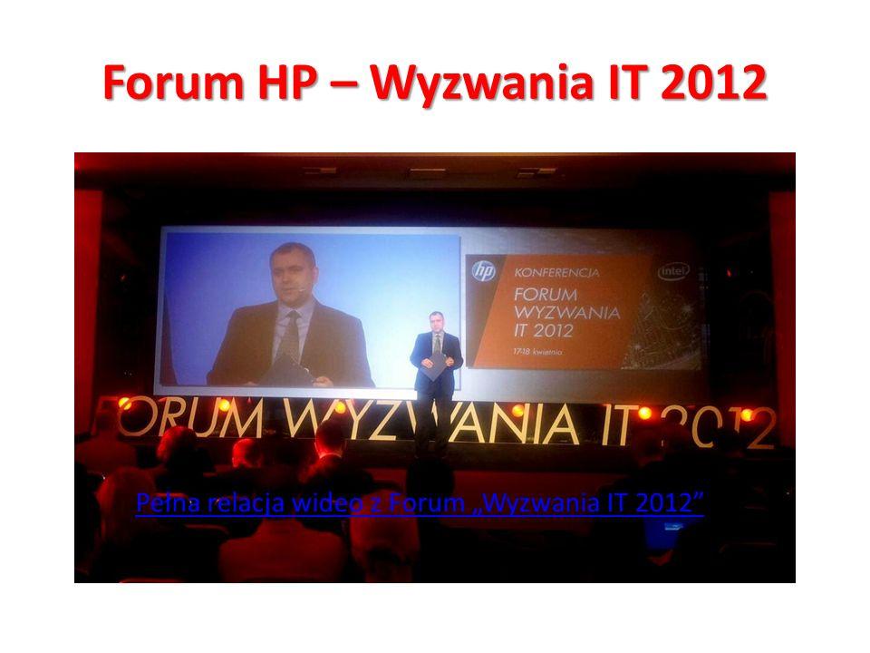 Forum HP – Wyzwania IT 2012 Jak się robi bank? Cezary Smorszczewski i Henryk Baniowski o powstaniu Alior Banku. Klient: HP Pełna relacja wideo z Forum