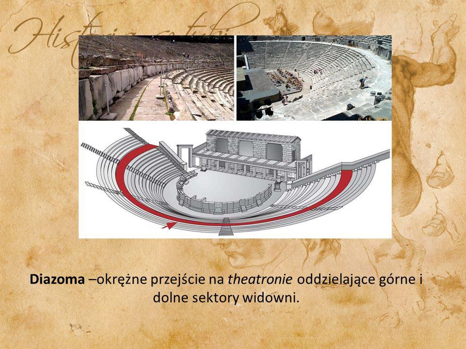 Diazoma –okrężne przejście na theatronie oddzielające górne i dolne sektory widowni.