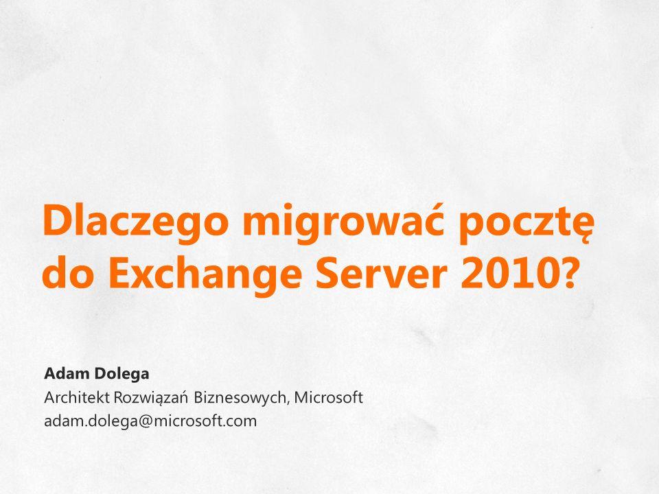 Dlaczego migrować pocztę do Exchange Server 2010?