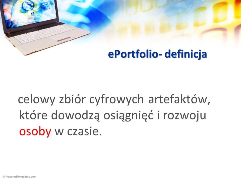 Elementy ePortfolio.