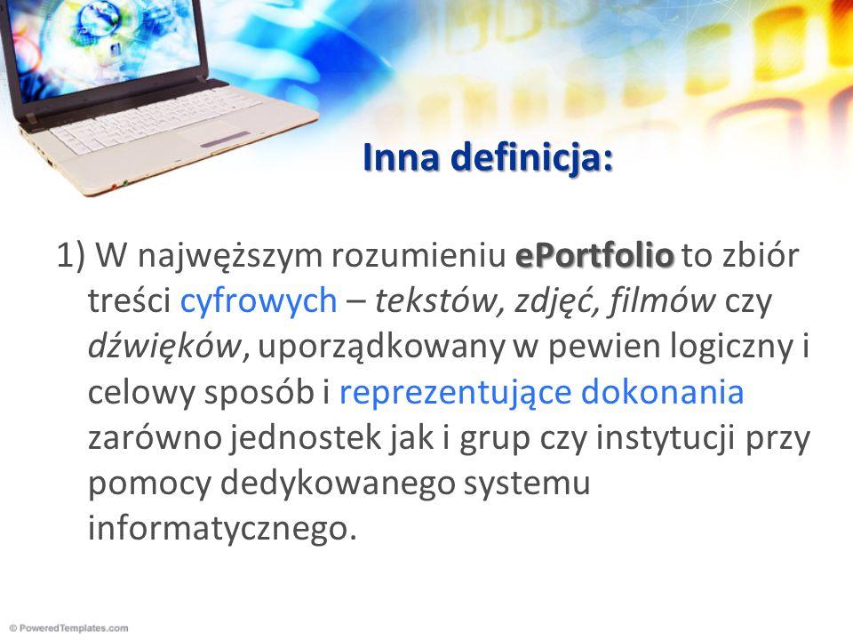 Inna definicja: 2) Sieciowy system zarządzania informacją wykorzystujące media i usługi elektroniczne.