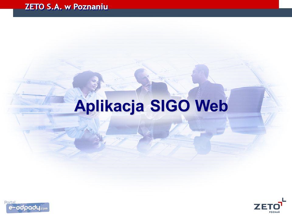 Aplikacja SIGO Web