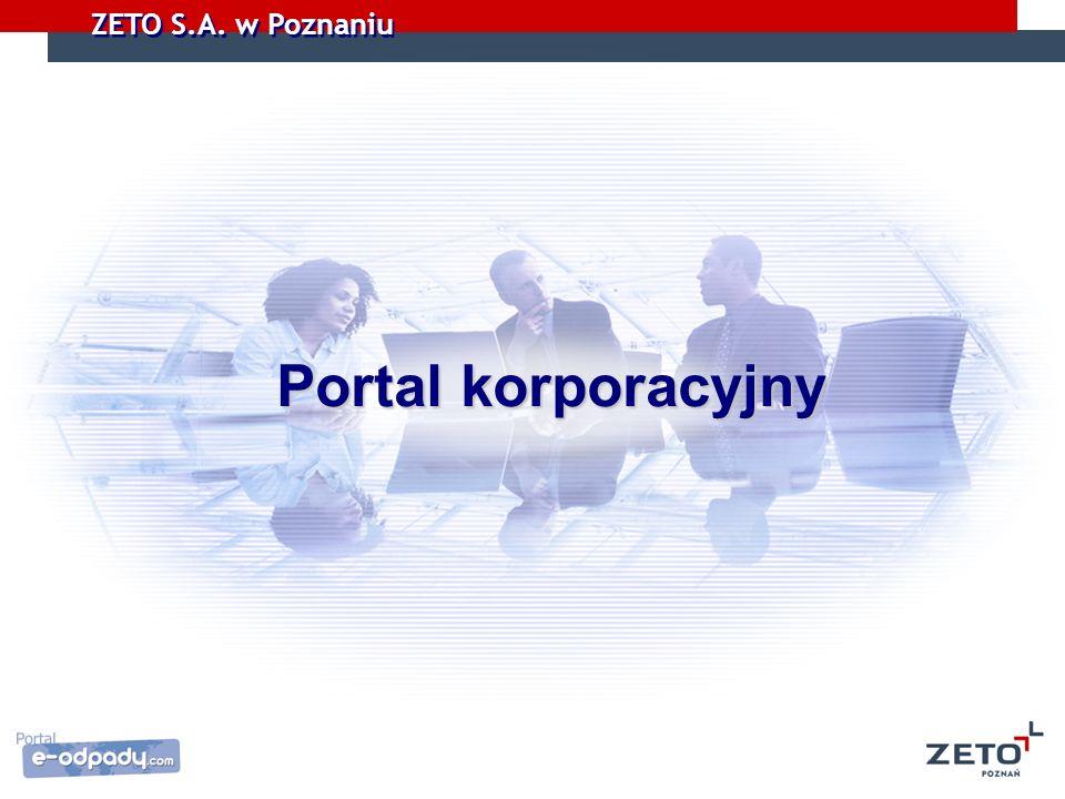 ZETO S.A. w Poznaniu Portal korporacyjny