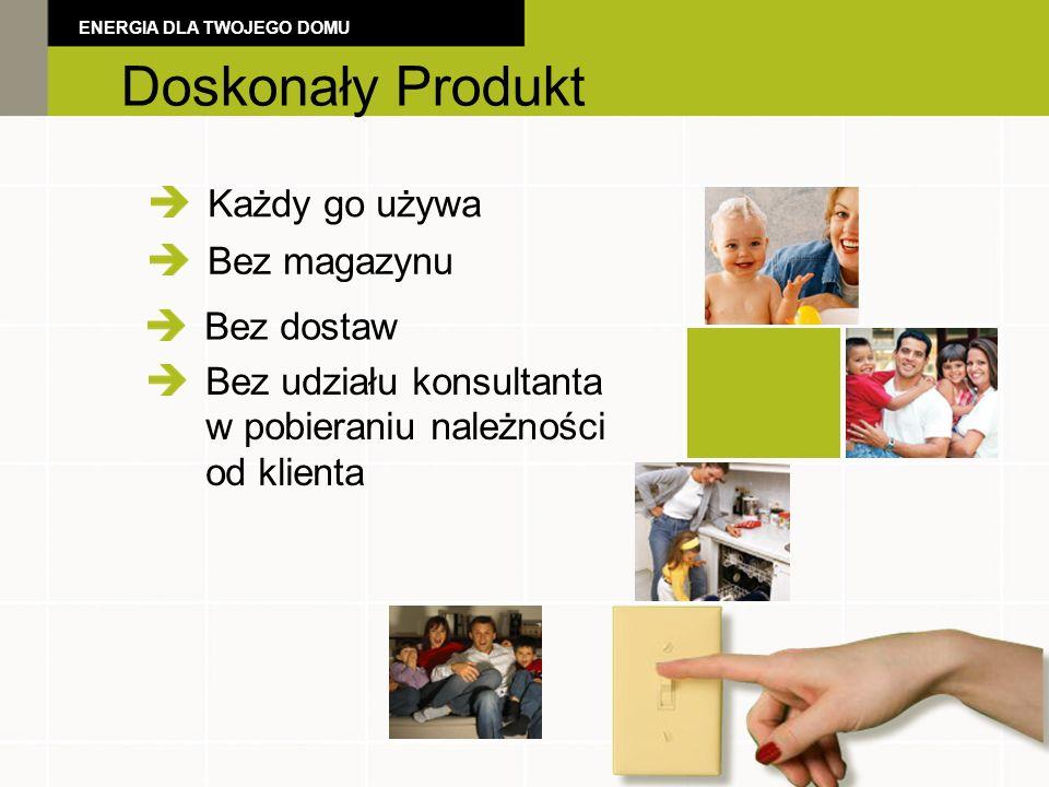 The Perfect Product Każdy go używa Bez magazynu Doskonały Produkt ENERGIA DLA TWOJEGO DOMU Bez dostaw Bez udziału konsultanta w pobieraniu należności od klienta