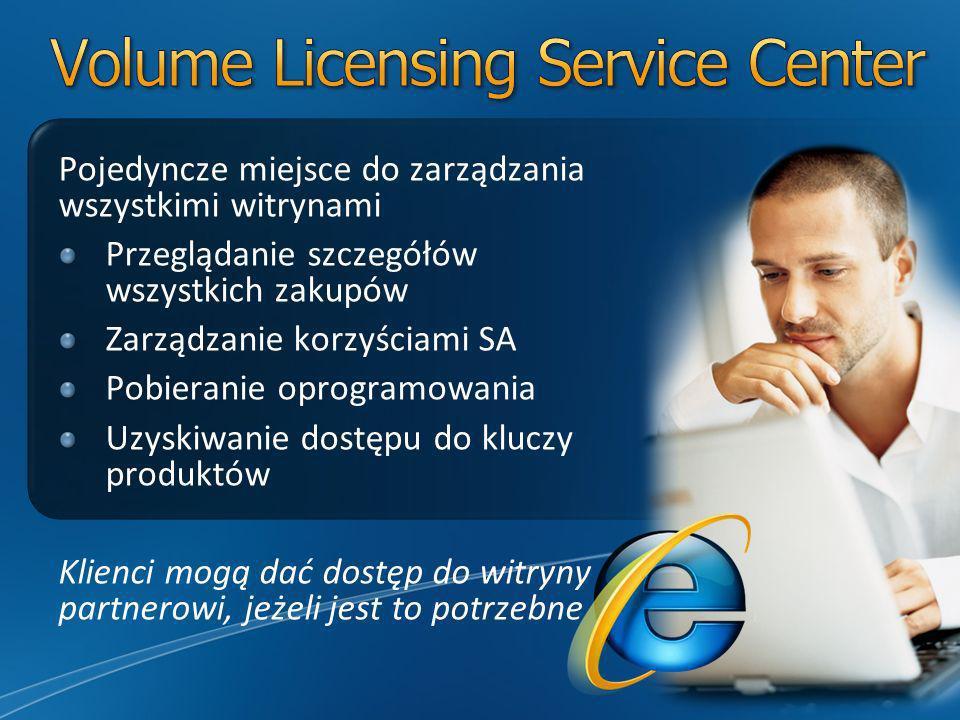 Pojedyncze miejsce do zarządzania wszystkimi witrynami Przeglądanie szczegółów wszystkich zakupów Zarządzanie korzyściami SA Pobieranie oprogramowania Uzyskiwanie dostępu do kluczy produktów Klienci mogą dać dostęp do witryny partnerowi, jeżeli jest to potrzebne