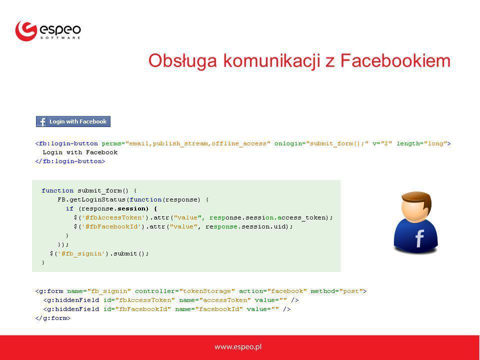 Obsługa komunikacji z Facebookiem