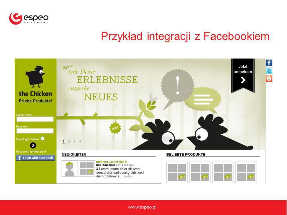 Przykład integracji z Facebookiem