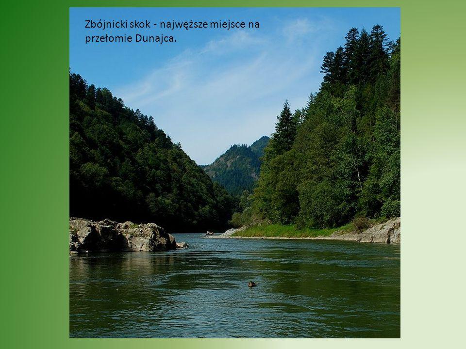 Zbójnicki skok - najwęższe miejsce na przełomie Dunajca.
