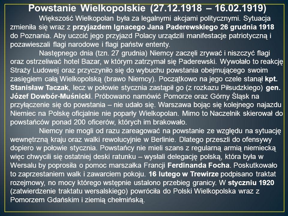 Obszar powstanie wielkopolskiego