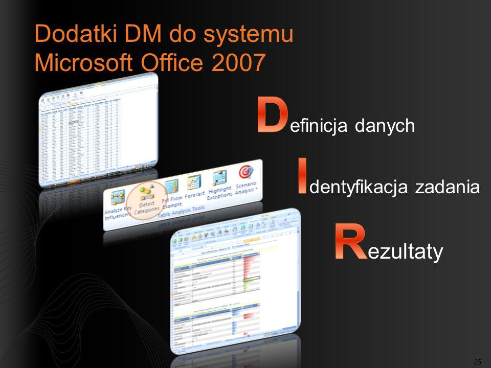25 Dodatki DM do systemu Microsoft Office 2007